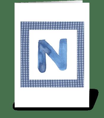 N - Baby Boy greeting card