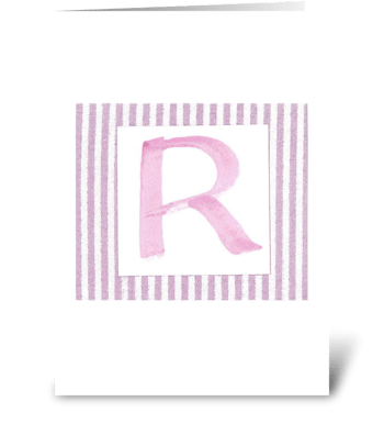 R - Baby Girl greeting card