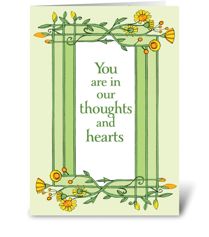 Floral Sympathy  greeting card
