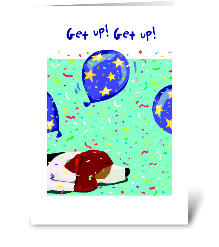 Beagle Birthday greeting card