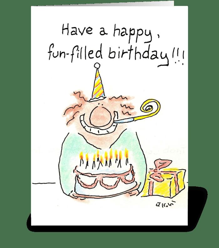 Fun Filled Birthday greeting card