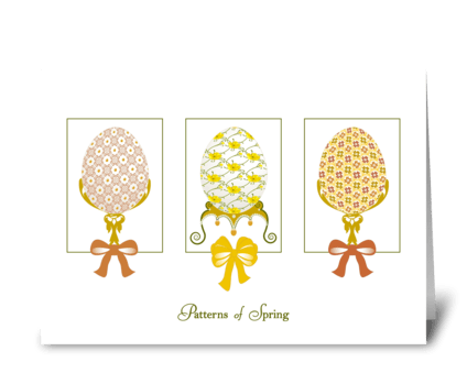 Patterns of Spring - Happy Spring greeting card