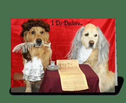 A Birthday Declaration greeting card