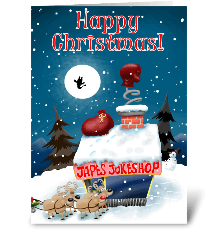 Joke Shop at Christmas greeting card