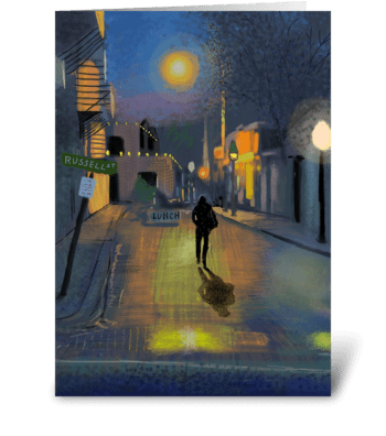 Night Walker greeting card