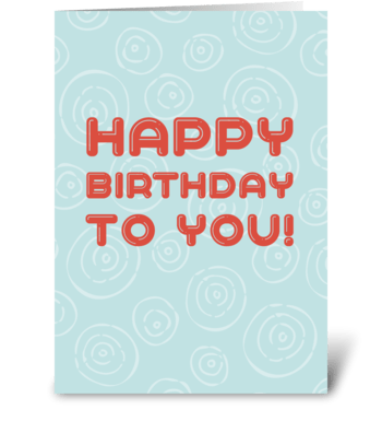 Orange and blue birthday card greeting card
