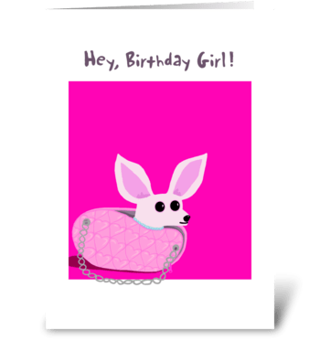 Chihuahua Purse Birthday Card greeting card