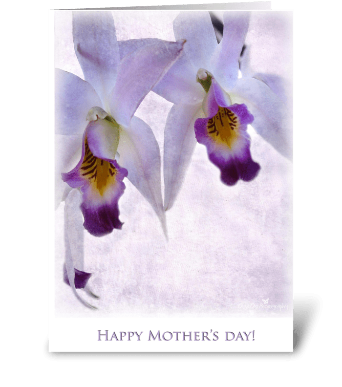 Happy Mother's Day with purple greeting card