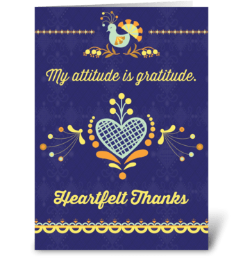 My attitude is gratitude greeting card