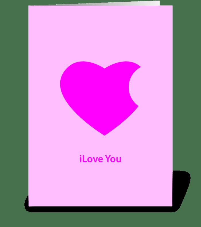 ilove you greeting card