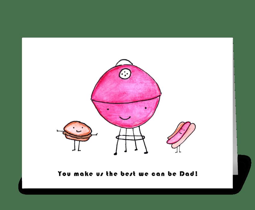 Grill Dad greeting card