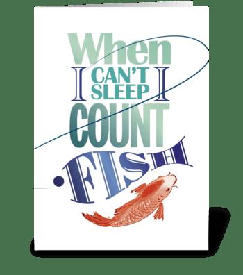 Fishing-sleeping greeting card