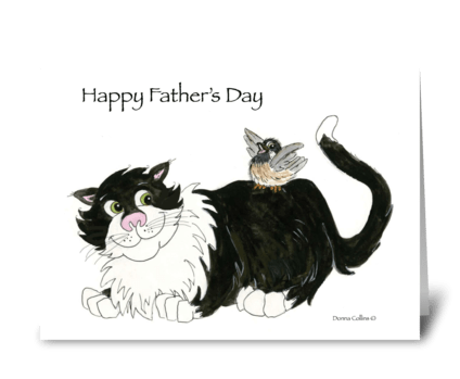 Father's Day Coolest Cat greeting card