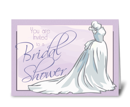 Wedding Gown Bridal Shower Invite greeting card