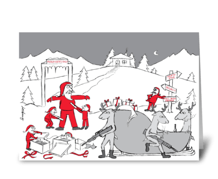 High Security Holiday greeting card