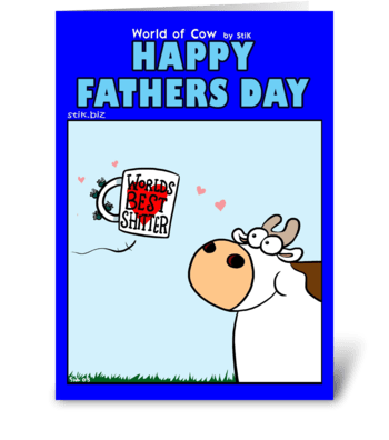 World's Best Sh*tter Father's Day Card greeting card