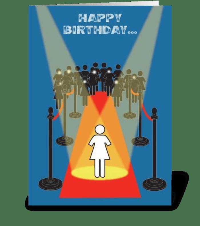 Superstar Birthday greeting card