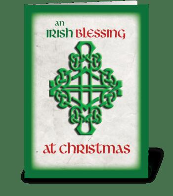 Irish Blessing at Christmas greeting card