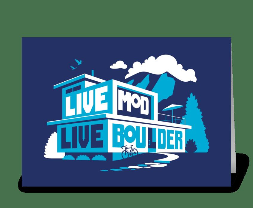 Live mod live boulder send this greeting card designed by live mod live boulder greeting card m4hsunfo