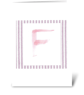 F - Baby Girl greeting card