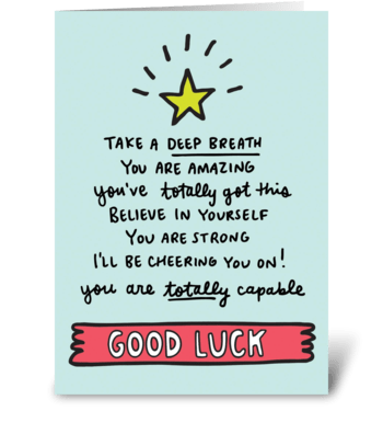 Good Luck greeting card