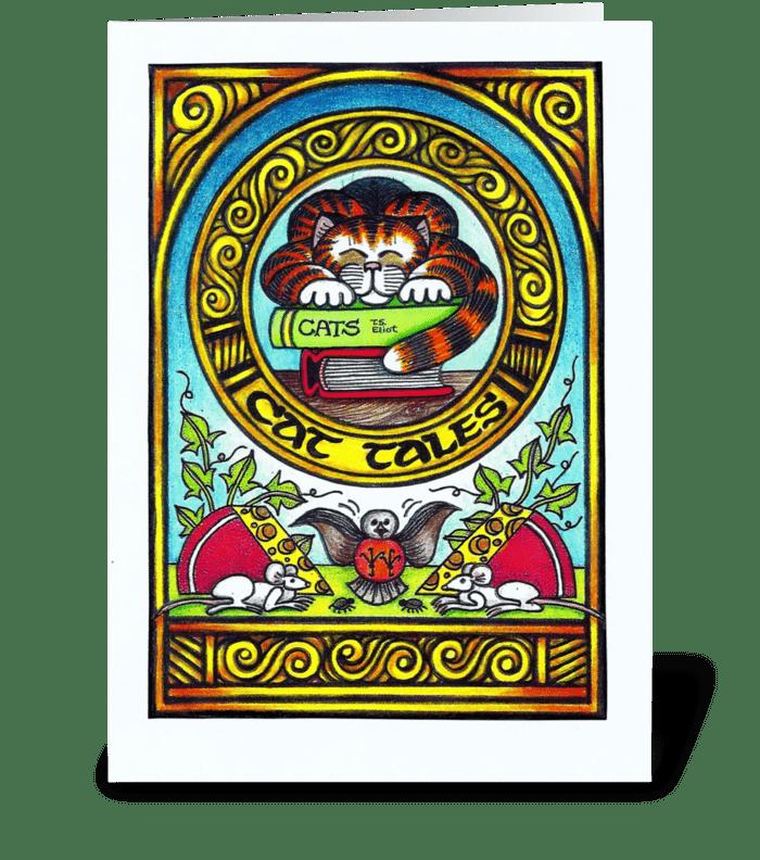 Cat Tales greeting card