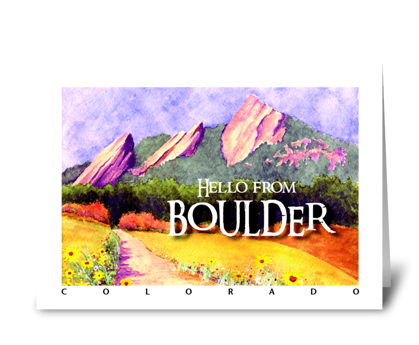 Hello from Boulder greeting card
