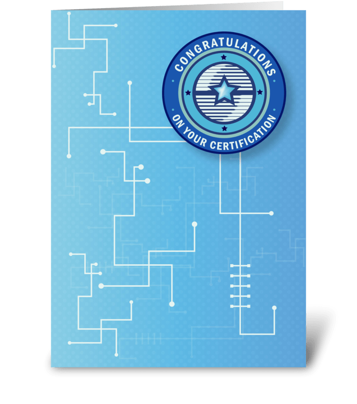 Certification Congratulations Send This Greeting Card Designed