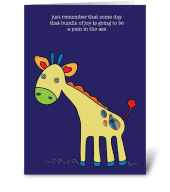 Pain in Ass greeting card