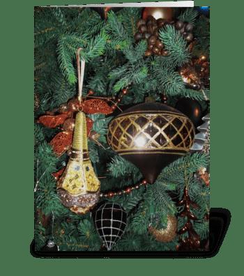 Holiday Gold greeting card