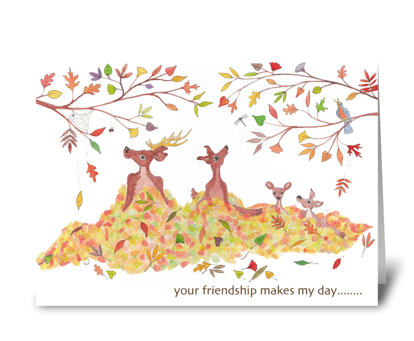Your friendship makes my day greeting card