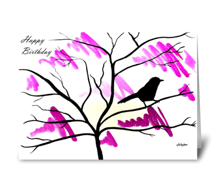 A splash of Spring greeting card