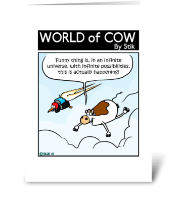Cow Infinite Possibilities greeting card