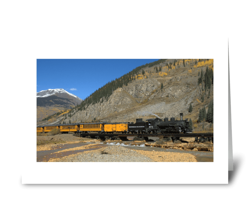The Durango to Silverton Railroad greeting card