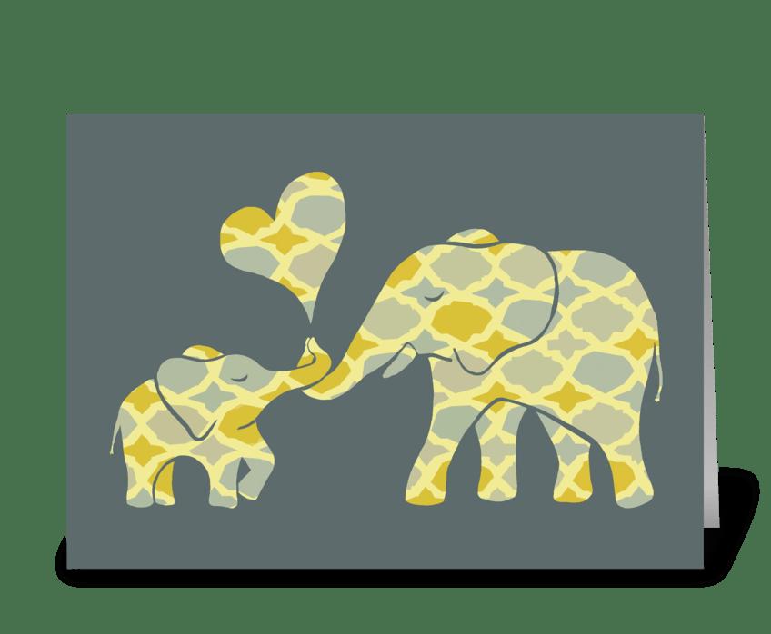 Sweet Elephant Hugs greeting card