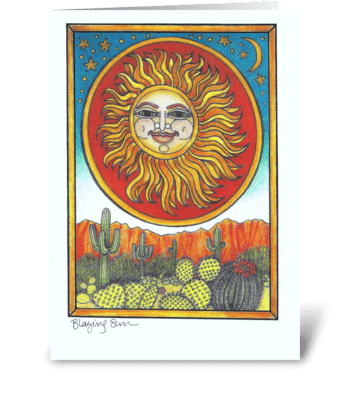 Blazing Sun greeting card