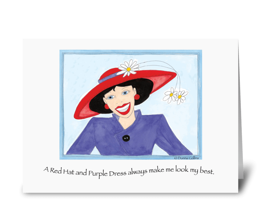 Red Hat Invitation greeting card