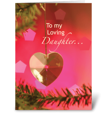 Daughter Heart on Tree greeting card
