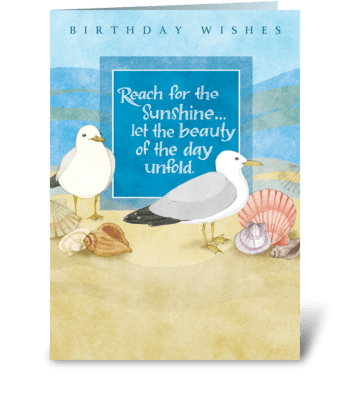 Sunshine Birthday greeting card