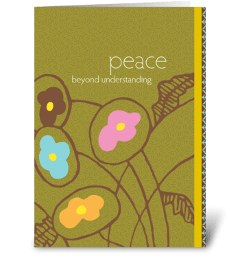 peace beyond understanding greeting card