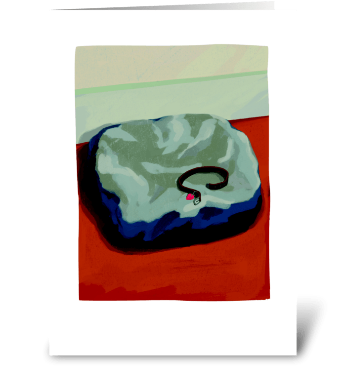 Bed Sympathy greeting card