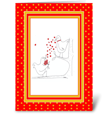 Valentine's Tweet Heart greeting card