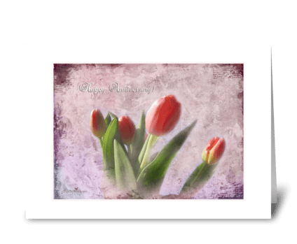 Tulips for Anniversary greeting card