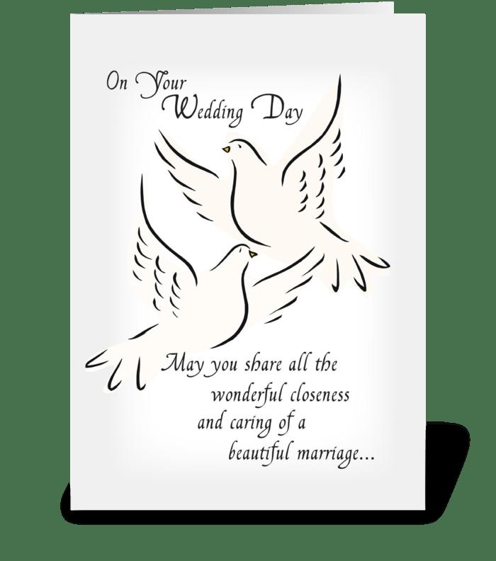 Wedding Doves, Congratulations greeting card