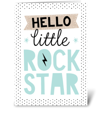Little Rockstar greeting card