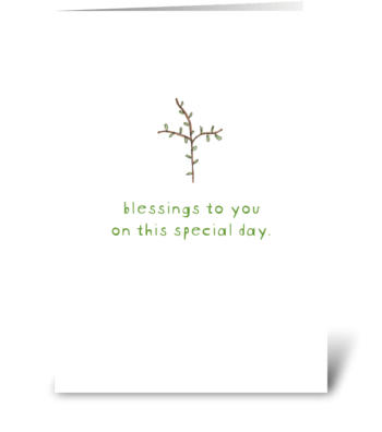 blessing cross greeting card