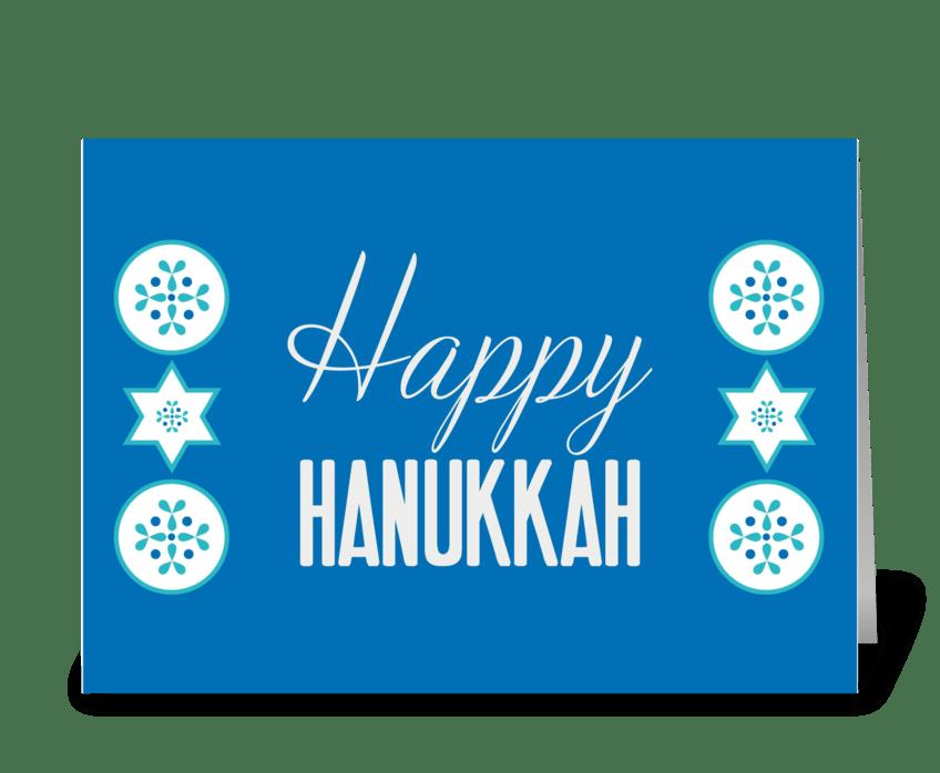 Happy hanukkah send this greeting card designed by riverdog prints happy hanukkah greeting card m4hsunfo