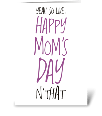 Happy Mom's Day greeting card