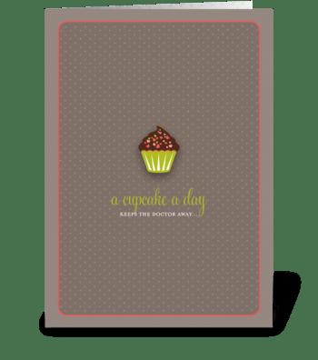 Sassy Cupcake greeting card