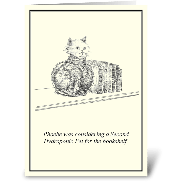 Hydroponic Pet greeting card